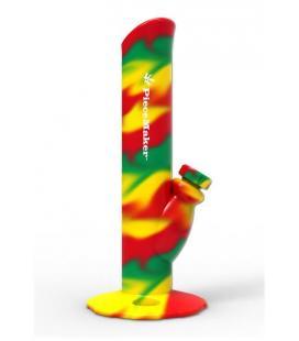 Bong in silicone PieceMaker' 'Kermit' Rasta Swirl