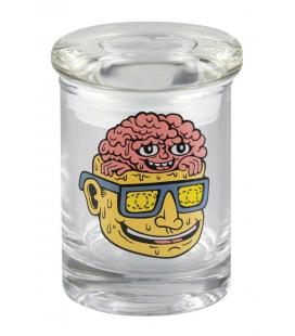 "420 Barattolo di vetro pop acid braine Pop Top Jar - 3.25 ""/ XS"