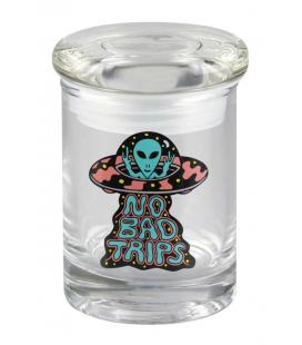 "420 Science Killer Acid No Bad Trips Pop Top Jar- 3.25"" / XS"