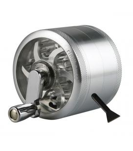 Grindhouse 4pc Grinder with Crank | silver