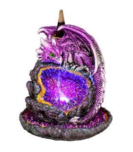 """Purple Dragon Backflow Incense Burner w/ LED Lights - 5.75"""""""