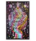"Elephant Tree Tapestry - 54""x86"""