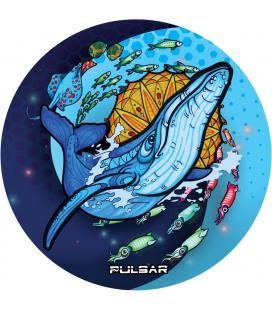 Pulsar DabPadz Round Dab Mat | Psychedelic Whale