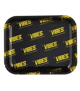 VIBES Metal Rolling Tray - Allover Logo L