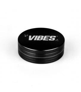VIBES Anodized Metal Grinder 2pc - black