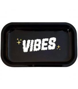 VIBES Metal Rolling Tray - Clouds of Smoke Logo M