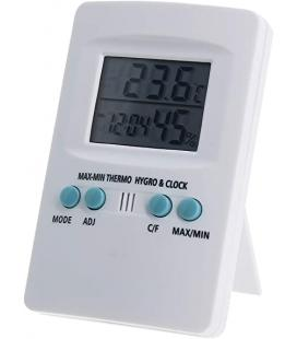 Digital thermo - hygrometer with clock -Cornwall