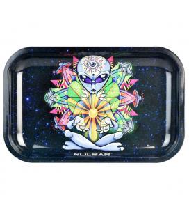Pulsar Metal Rolling Tray 28x18cm Artist Series | Psychedelic Alien